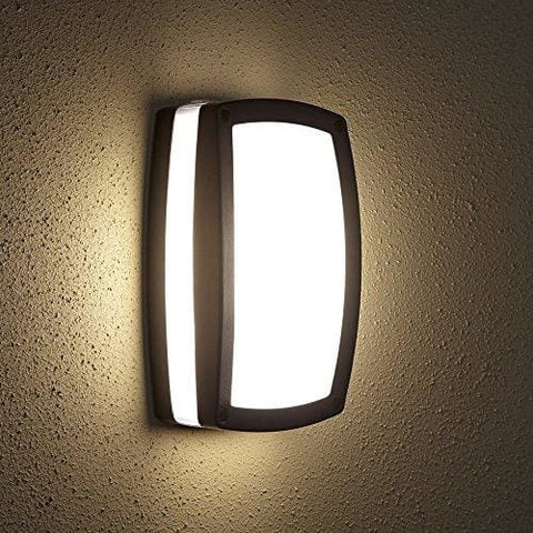 Biard E27 Outdoor Rectangle Bulkhead Wall Security Light Stylish Garden Lamp Ip54