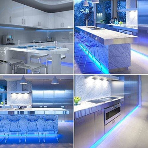 Blue Led Strip Light Set For Kitchens Under Cabinet Lighting Plasma Tv Home Lighting Etc.. (Set Of 2 X 50Cm Led Strips With Link Cables
