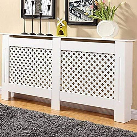Bps Painted Radiator Cover Cabinet White Mdf Modern Style Extra Large - 1720Mm X 815Mm X 190Mm