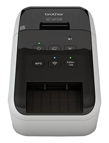 Brother Ql-810W Label Printer | Address Labeller | Wireless & Pc Connected | Desktop | Red & Black Printing