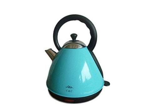 C & C Blue/duck-Egg Pyramid Kettle.