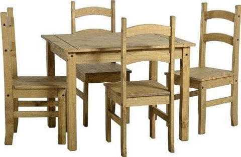 Centurion Pine 07779 270996 Budget Mexican Wooden Dining Table 4 Chairs