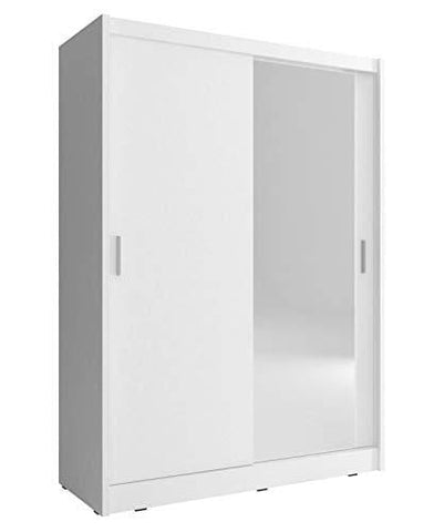 Checo Home And Garden 2-Day Premium Shipping Available 130 Cm Wide Sliding 2 Doors Wardrobe Maya - White