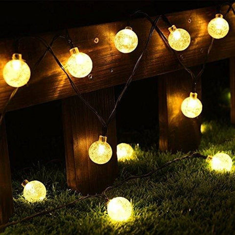 Cmyk® Solar Operated 30 Led String Light With Crystal Ball Covers Ambiance Lighting Great For Outdoor Use In Patio Pathway Garden Indoor
