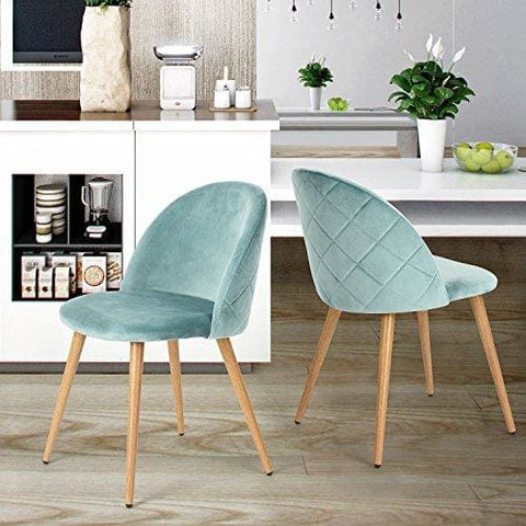 Coavas Dining Chairs Soft Seat And Back Velvet Living Room Chairs With Wooden Style Sturdy Metal Legs Kitchen Chairs For Dining Room Set Of