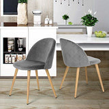 Coavas Dining Chairs Soft Velvet Kitchen Chairs Living Room Lounge Leisure Chairs With Wooden Style Metal Legs For Dining Room And Bedroom