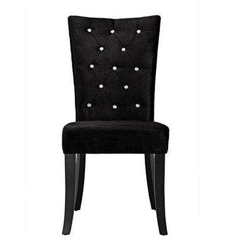 Comfy Homes Radiance Velvet Dining Chairs Set Of 2 (Black Velvet)