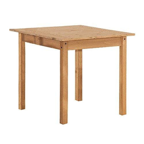Corona Solid Pine Square 2 Seater Dining Table