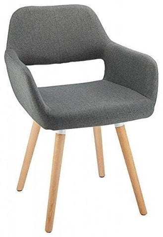 Costantino Oslo Fabric Dining Chair Charcoal