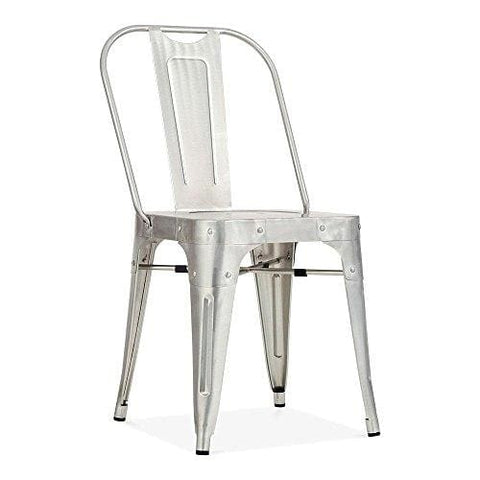 Cult Furniture Shoreditch Metal Side Chair Galvanised