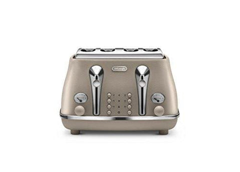 Delonghi Ctoe4003.bg Elements 4 Slot Toaster 1800 W Beige