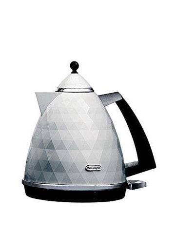 Delonghi Kbj3001.w Brillante Faceted 1.7L Cordless 3Kw Jug Kettle White