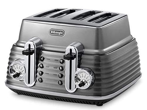 Delonghi Scultura Ctz4003Gy 4-Slice Toaster - Grey