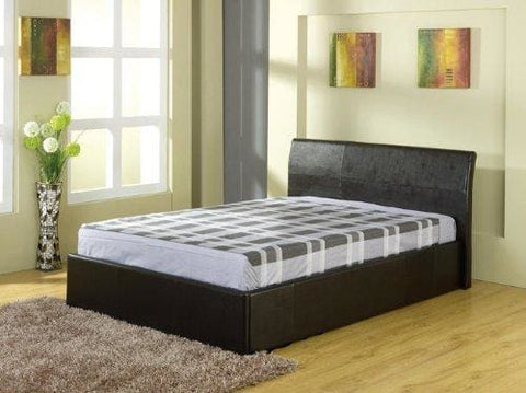 Denver 3Ft Single Ottoman Easy Gas Lift Up Deep Storage Beds (Black)
