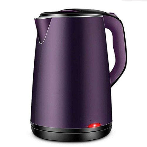 Dhg Electric Kettle Stainless Steel Pink Purple Double Anti-Hot 1500W 1.8L Insulation Separable Base Automatic Power Off Home Travel