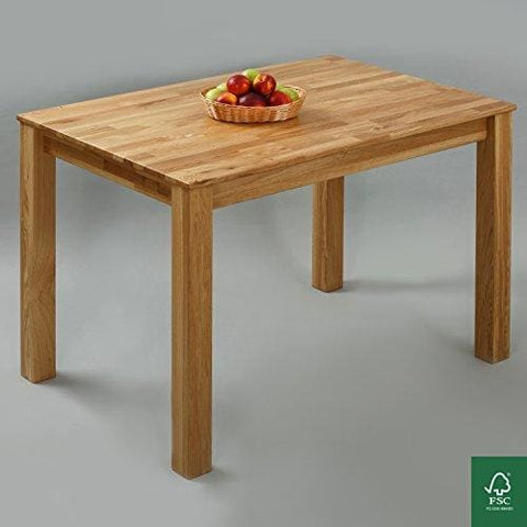 Dining Table 100% Fsc Bonn 110X75X75Cm Dining Room Table Solid Wood Table For Kitchen Hardwood Table Oak