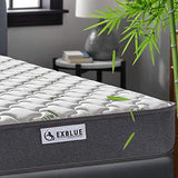Double Bamboo Fiber Mattress 4Ft6 Double Pocket Sprung And Memory Foam Mattress Pressure Relief With 9-Zone Support System - 100 Nights