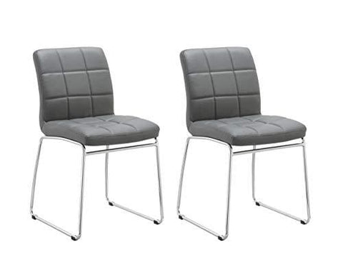 Duhome Elegant Lifestyle Dining Chair Set Of 2 Kitchen Chair Grey Modern Design Faux Leather Colour Selection Wy-732
