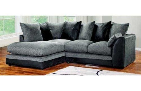 Dylan Byron Corner Group Sofa Black And Charcoal Right Or Left (Black Left)