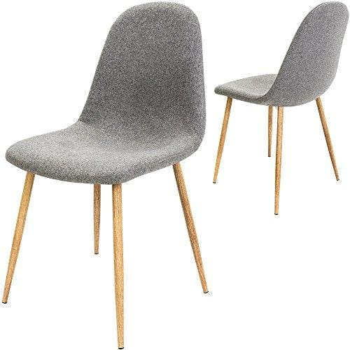 Eames Style High Back Dining Chairs Fabric Scandinavian Design