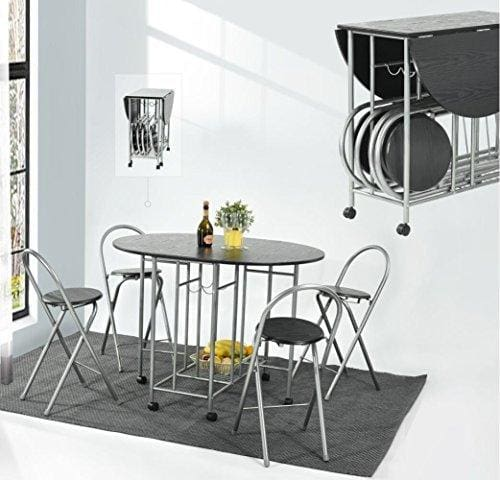 Eggree Foldable Dining Table 4 Chairs Set 5pcs Butterfly Kitchen