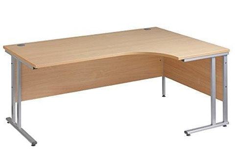 Ergonomic 1600Mm Right Hand Oak Corner Office Desk Computer Table