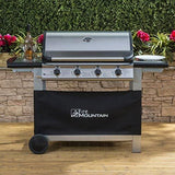 Everest 4 Burner Gas Barbecue - With Free Propane Regulator & Hose - Stainless Steel Cast Iron Burners Grill & Griddle