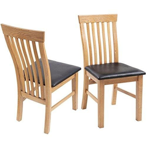 Festnight Solid Wood Kitchen Dining Chairs Set Of 2 Dining Room Furniture Set With Artificial Leather Upholstery 45 X 55 X 85 Cm