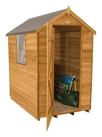 Forest Garden 6X4 Overlap Apex Garden Shed - Dip Treated