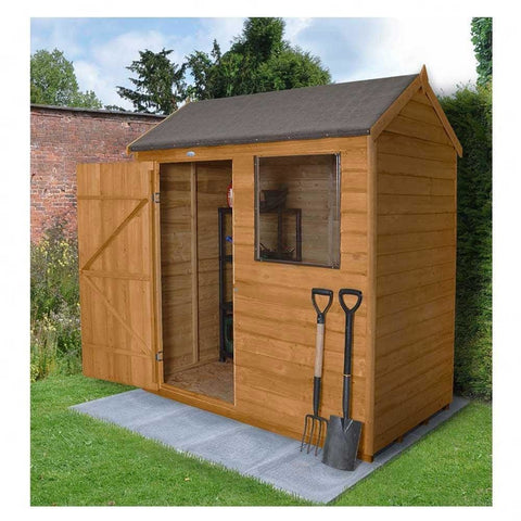 Forest Garden 6X4 Reverse Apex Overlap Garden Shed - Dip Treated