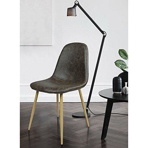 Furnish 1 Dining Chair Set Of 4 Unique Design Fabric Dinning Seat Metal Legs Chair For Kitchen Dining Room Home Vintage Brown