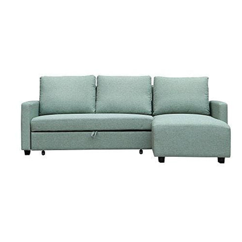 Furniture 247 L-Shaped Sofa Interchangeable - Green