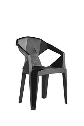 Furnitureboxuk® 4X Verona Strong Plastic Modern Stylish Dining Room Chair Armchair Seat (Black)