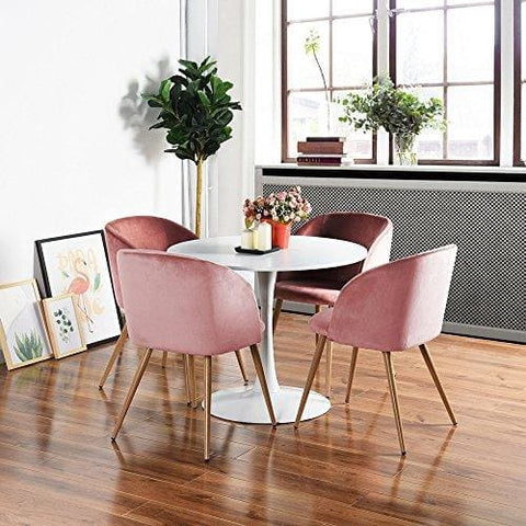 Set Of 2 Living Room Accent Chairs.H J Wedoo Set Of 2 Retro Vintage Armchair Velvet Fabric Tub Accent Chair Lounge Chair For Dining Living Room Rose Pink