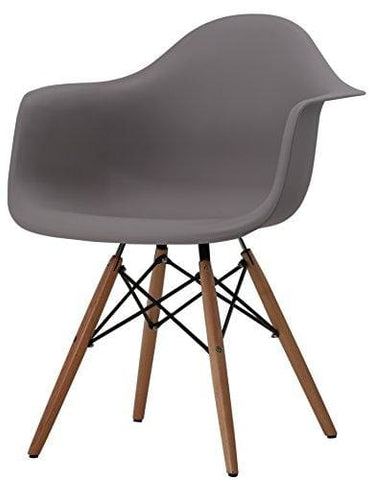 Hnnhome Inspire Daw Dining Plastic Chairs Lounge Armchair Office Furniture Panton (Warm Grey)