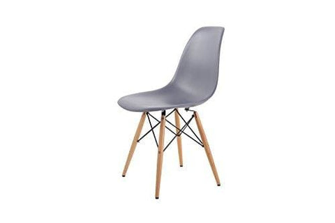 Hnnhome Inspired Eiffel Dsw Dining Plastic Chairs Modern Lounge Office Furniture Steel Grey