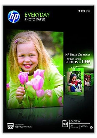 Hp Q2510A A4/210 X 297 Mm Everyday Glossy Photo Paper 200 Gsm 100 Sheets