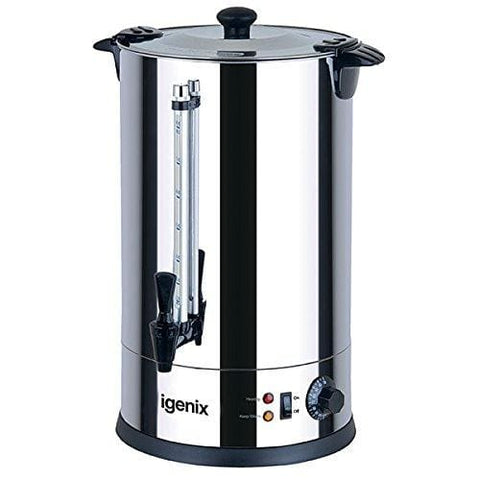Igenix Ig4015 Catering Urn Hot Water Boiler Tea Urn For Home Brewing Commercial Or Office Use 15 Litre Stainless Steel