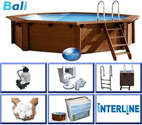 Interline 50700201 434 X 116 Cm Round Bali Swimming Pool