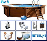 Interline 50700205 355 X 116 Cm Round Bali Swimming Pool
