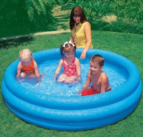 Intex Inflatable Swimming Paddling Play Pool 3 Ring Blue Toy Kids Childs Childrens Baby Family Sizes - 45 58 66 Diameter (66 X 16)