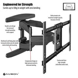 Invision Ultra Strong Tv Wall Bracket Mount - For 37 - 70 Inch Led Lcd Plasma & Curved Screens Double Arm Tilt Swivel Feature Includes 1080P