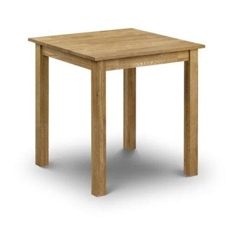 Julian Bowen Coxmoor Solid Oak Square Dining Table Oak