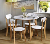 Julian Bowen Tiffany Dining Table Set With 4 Chairs White/oak Colour