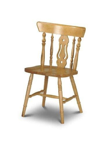 Julian Bowen Yorkshire Fiddleback Dining Chair Wood Pine Set Of 2
