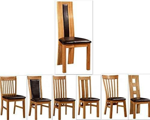 Kelsey Stores Solid Oak Dining Chairs Oak Natural Chairs Various Designs Set Of Two (Shirley)