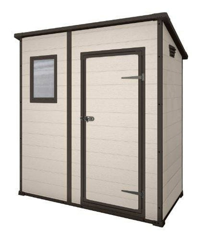 Keter 17199514 Manor Pent Outdoor Plastic Garden Storage Shed 6 X 4 Feet - Large Beige