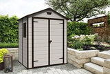 Keter 6 X 5 Shed - Keter Manor Outdoor Plastic Garden Storage Shed 6 X 5 Feet - Beige