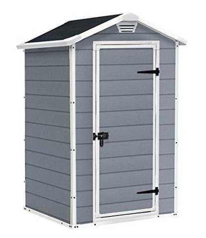 Keter Manor Outdoor Plastic Garden Storage Shed 4 X 3 Feet - Grey