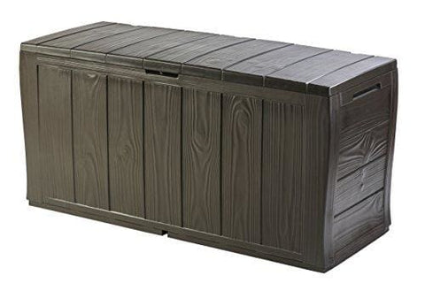 Keter Sherwood Outdoor Plastic Storage Box Garden Furniture 117 X 45 X 57.5 Cm - Brown
